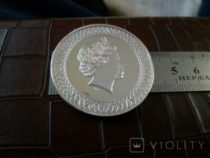 1 долар  2017 року Австралія /репліка/посрібнення 999., фото №3