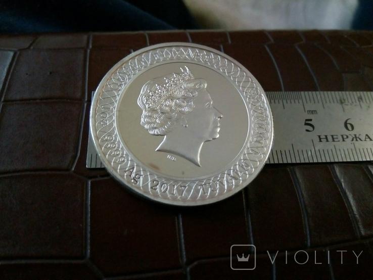1 долар  2017 року Австралія /репліка/ копія посрібнення 999.  магнітна, дзвенить, фото №4