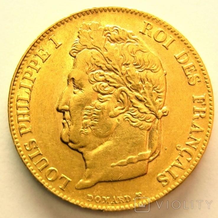 Франция 20 франков 1840 г.