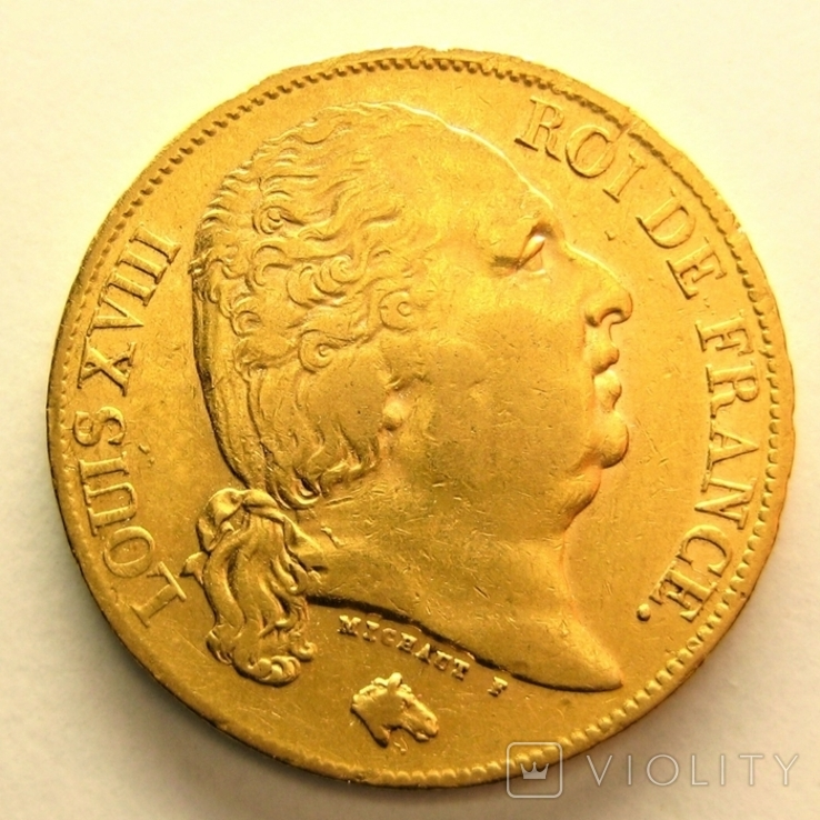 Франция 20 франков 1824 г.