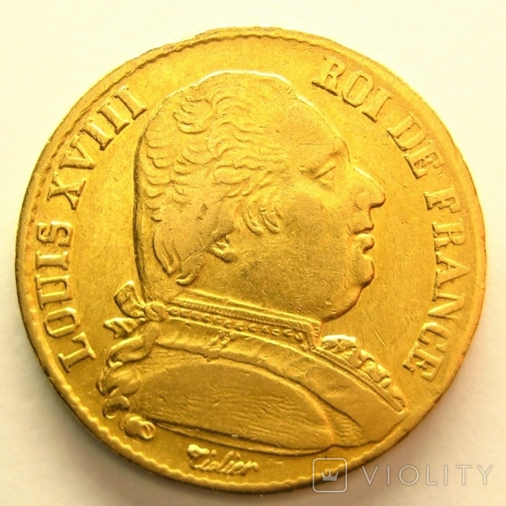 Франция 20 франков 1814 г.