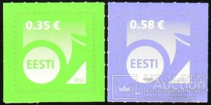 738 - Estonia Эстония - 2011 - Стандарт 0,35 + 0,58 Евро - 2 марки самоклеющаяся