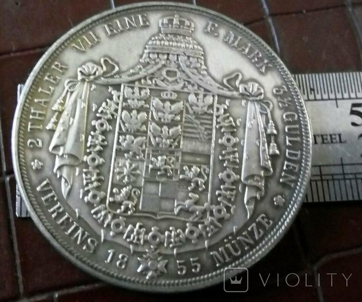 2 таляра  1853 року Пруссія ///копія/ посрібнення 999, фото №2
