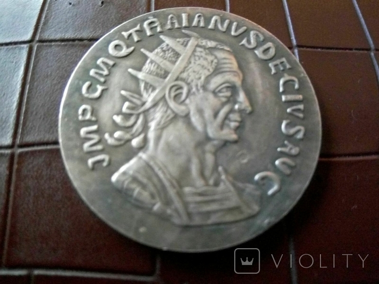 Рим Імператор Смоктаніанус копія срібної -посрібнення 999, фото №2
