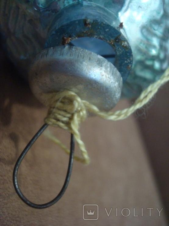 Большая ёлочная игрушка толстое стекло 17см., фото №8