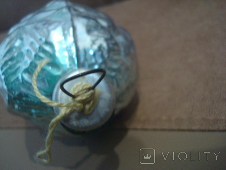 Большая ёлочная игрушка толстое стекло 17см., фото №9