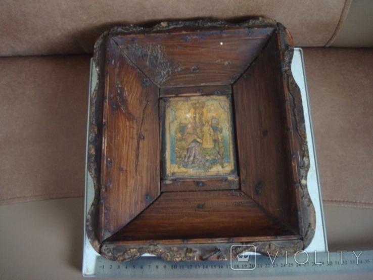 Старая икона в киоте, фото №2