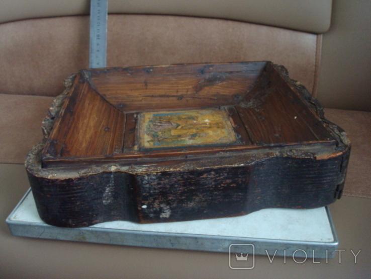 Старая икона в киоте, фото №6