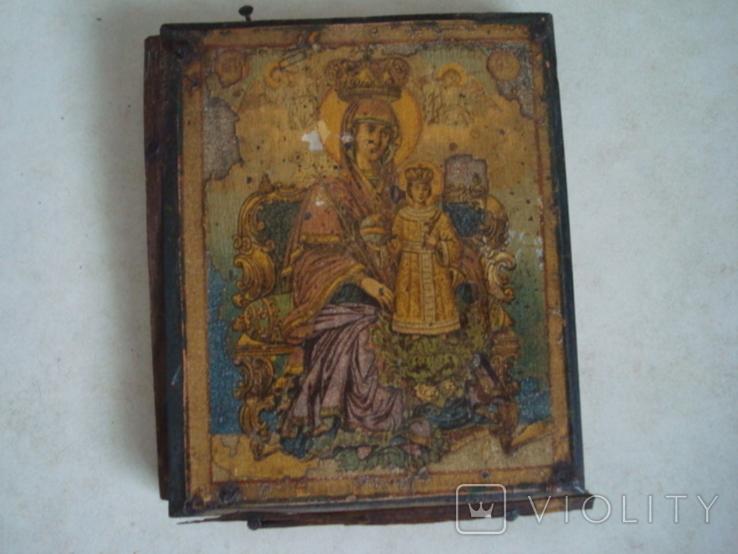 Старая икона в киоте, фото №11