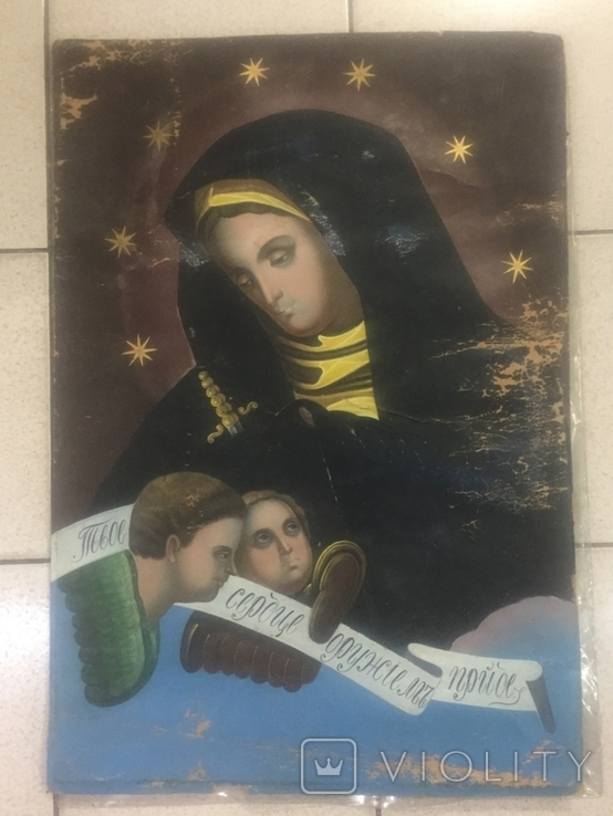 """Икона """"Твое Сердце Оружием Пройдет"""", фото №3"""