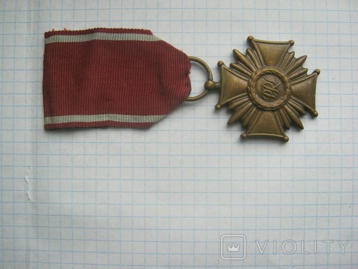 Крест за Заслуги в бронзе  государственная награда cоциалистической Польши низшей степени, фото №3