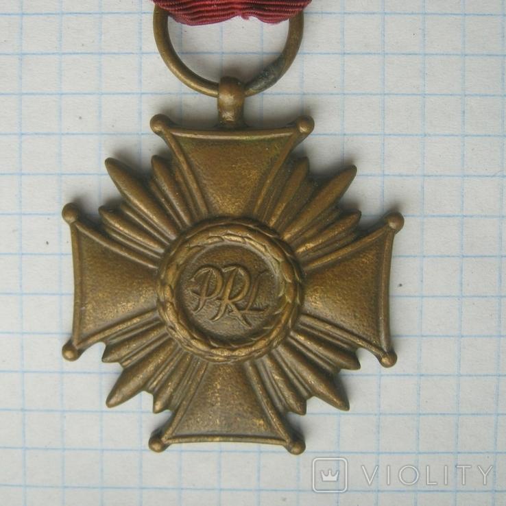 Крест за Заслуги в бронзе  государственная награда cоциалистической Польши низшей степени, фото №4