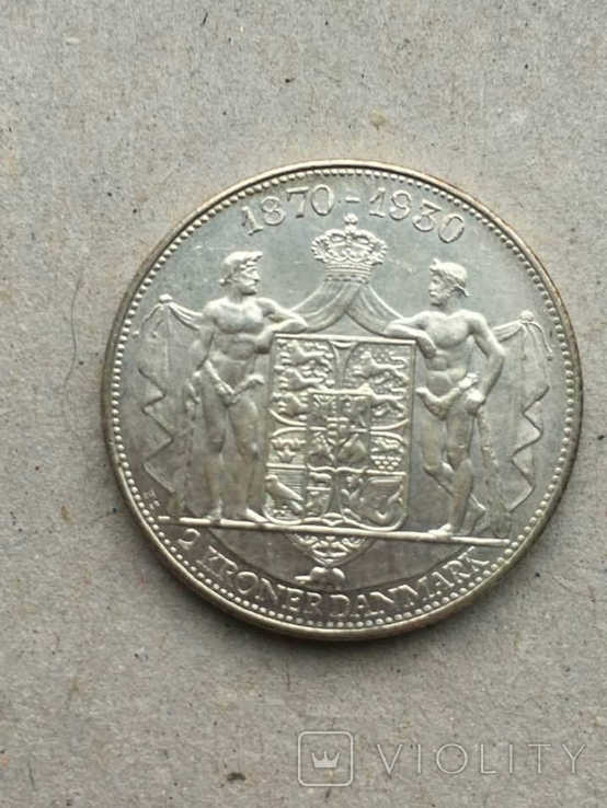 Дания 2 кроны юбилейные 1930 г., фото №3