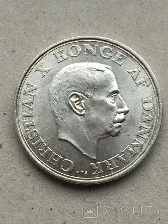 Дания 2 кроны юбилейные 1937 г., фото №2