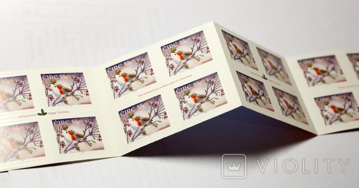 Ирландия 2010 Рождество. Марочный буклет на 26 марок, фото №3