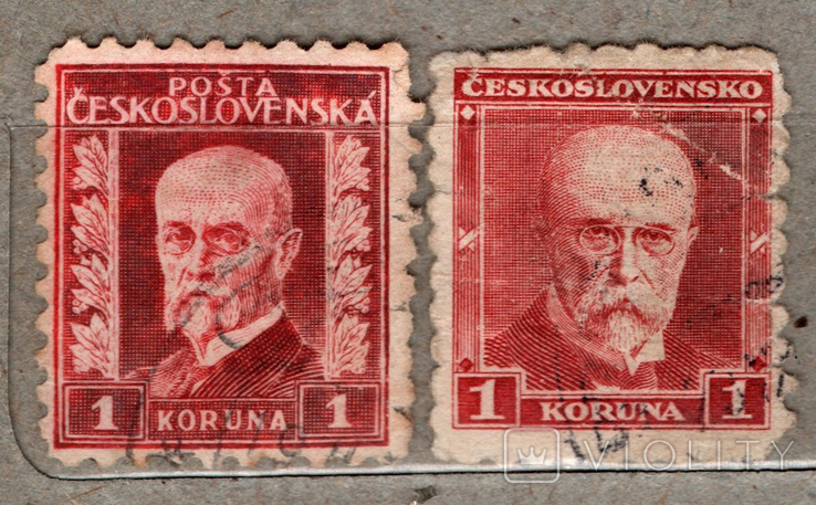Чехословакия. Томаш Масарик. 1926, 1930 г., фото №2