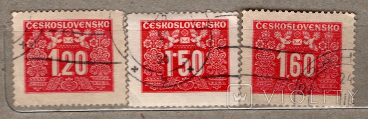 Чехословакия. Доплатные марки. 1946, 1948 гг., фото №2