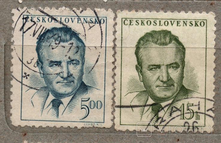 Чехословакия. Клемент Готвальд. 1948, 1953 г., фото №2