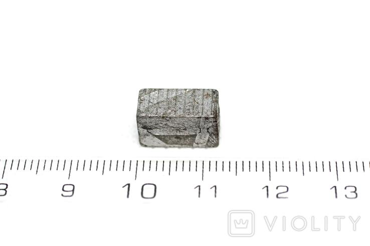 Заготовка-вставка з метеорита Seymchan, 3,9 г, із сертифікатом автентичності, фото №4