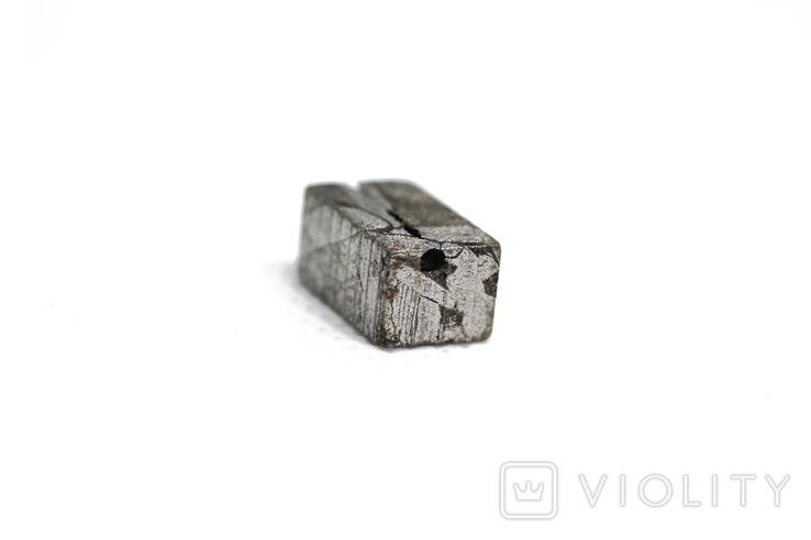 Заготовка-вставка з метеорита Seymchan, 3,9 г, із сертифікатом автентичності, фото №8