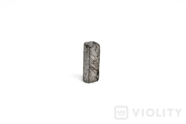 Заготовка-вставка з метеорита Seymchan, 0,92 г, із сертифікатом автентичності, фото №6