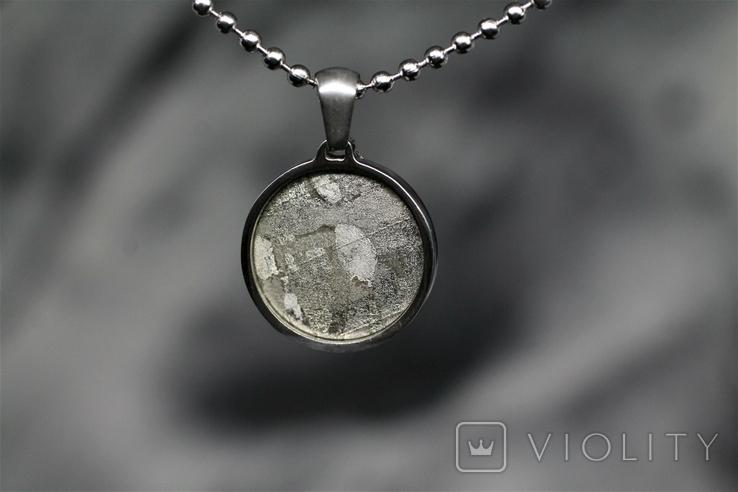 Підвіска із залізо-камяним метеоритом Seymchan, із сертифікатом, фото №5