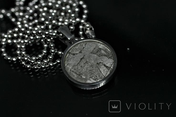 Підвіска із залізо-камяним метеоритом Seymchan, із сертифікатом, фото №2