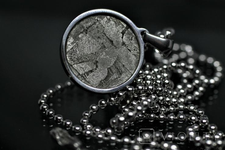 Підвіска із залізо-камяним метеоритом Seymchan, із сертифікатом, фото №7