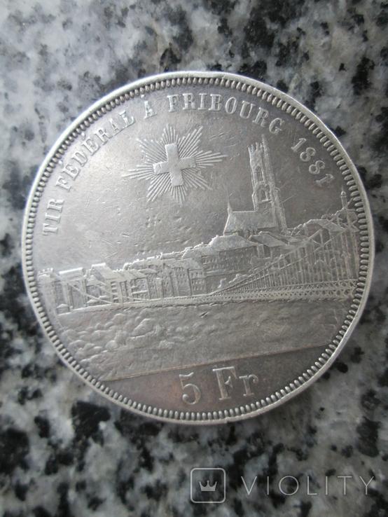 Швейцария 5 франков 1881 год