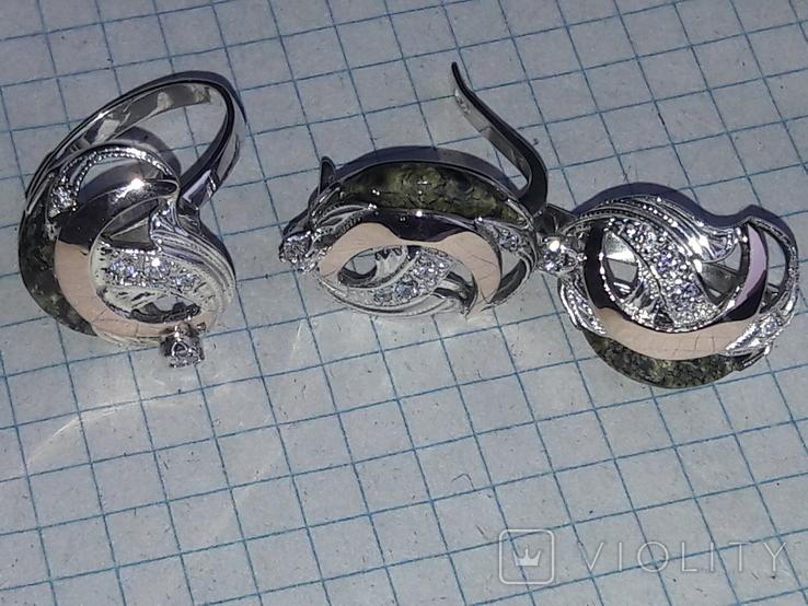 Набор (серебро, золото, камень), фото №2