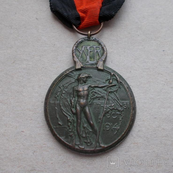 Бельгия 1918 г. Медаль. За битву на реке Изер 1914 г., фото №3