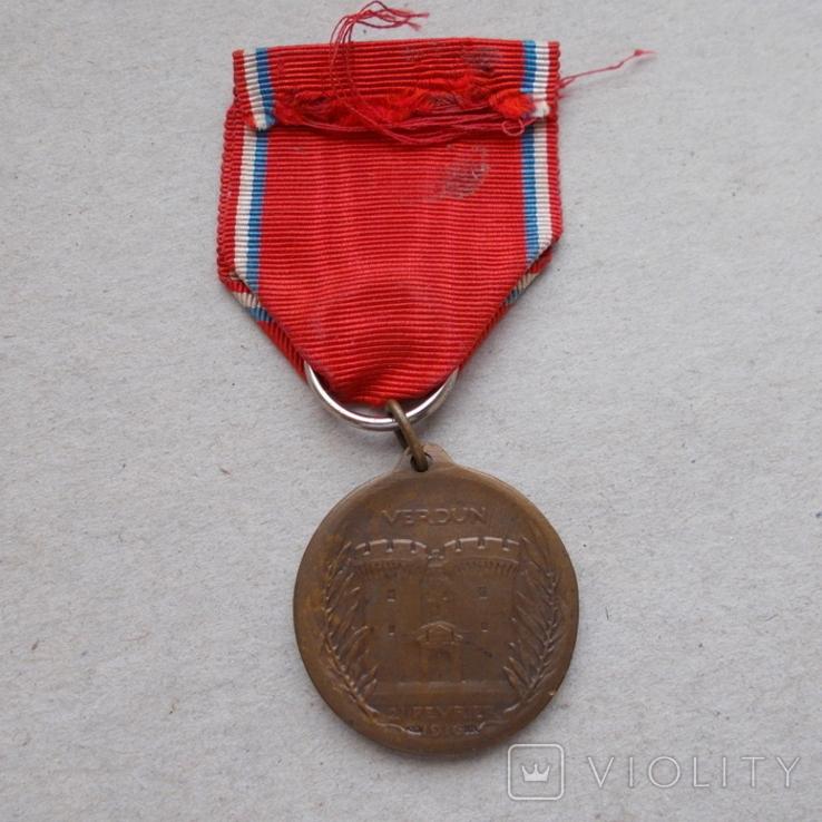 Франция. Медаль. Участник битвы при Вердене 1916 г., фото №4
