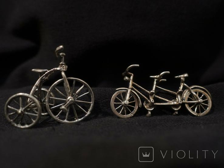 Велосипеды серебро 800 2 шт., фото №2
