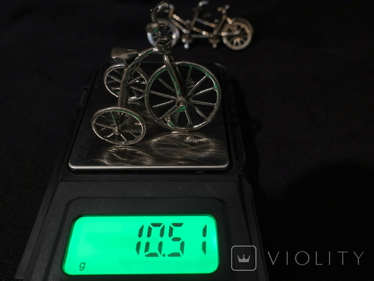 Велосипеды серебро 800 2 шт., фото №5