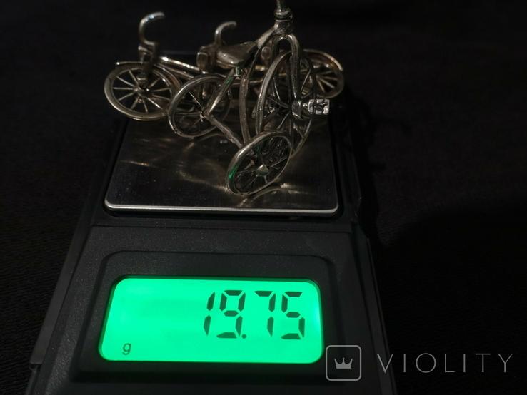 Велосипеды серебро 800 2 шт., фото №7
