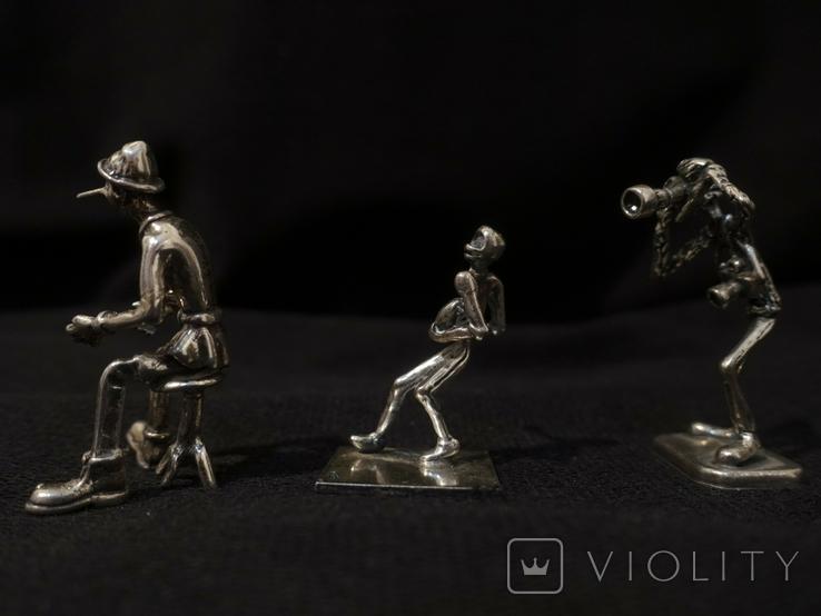 Фигурки людей серебро 800 3 шт., фото №3