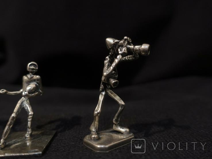 Фигурки людей серебро 800 3 шт., фото №6