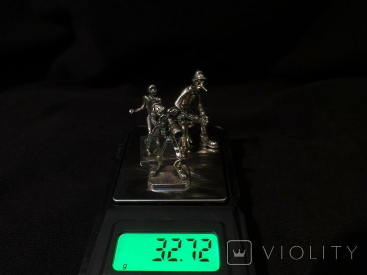 Фигурки людей серебро 800 3 шт., фото №8