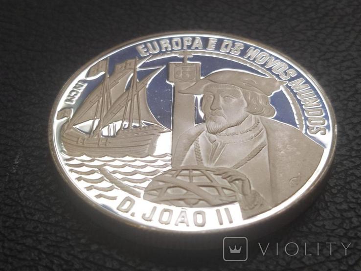 Португалия 1992 Корабль парусник серебро, фото №2