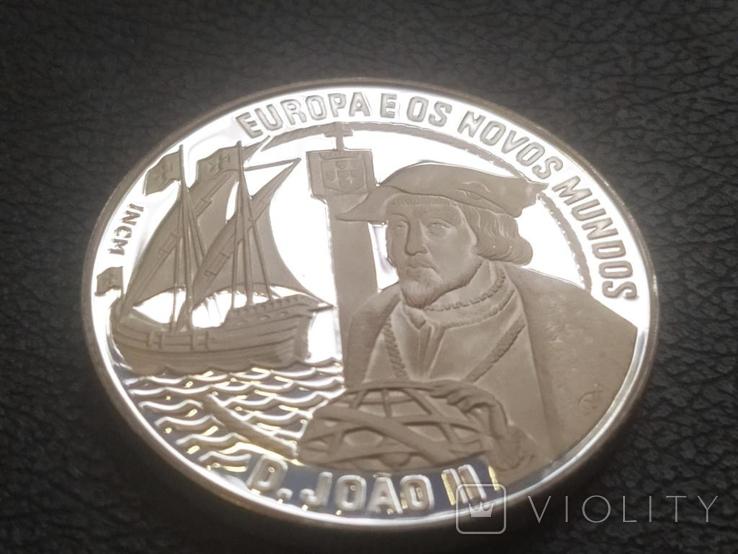 Португалия 1992 Корабль парусник серебро, фото №3