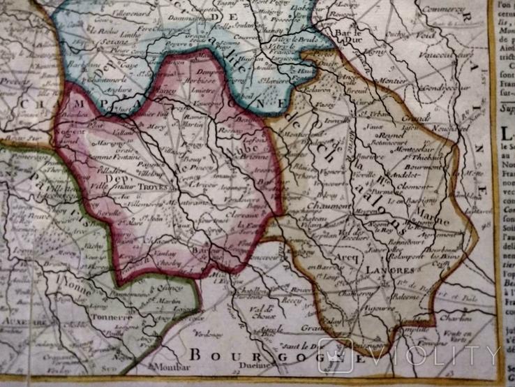 1790 Шампань, Париж, Деснос (большая карта 52х33 Верже) СерияАнтик, фото №8