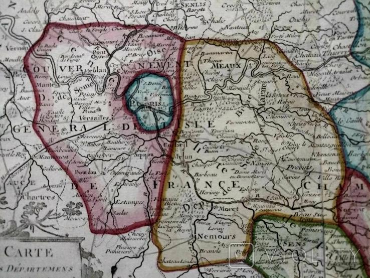1790 Шампань, Париж, Деснос (большая карта 52х33 Верже) СерияАнтик, фото №12