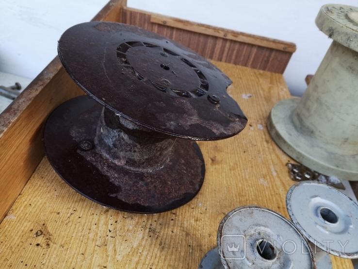 Бухта катушка для проволки метал пластик дерево, фото №8