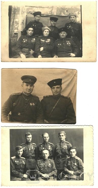 Фото 3 шт.командиров и офицеров 46-го и 48-го кавалерийского полка 1940-е годы, фото №2