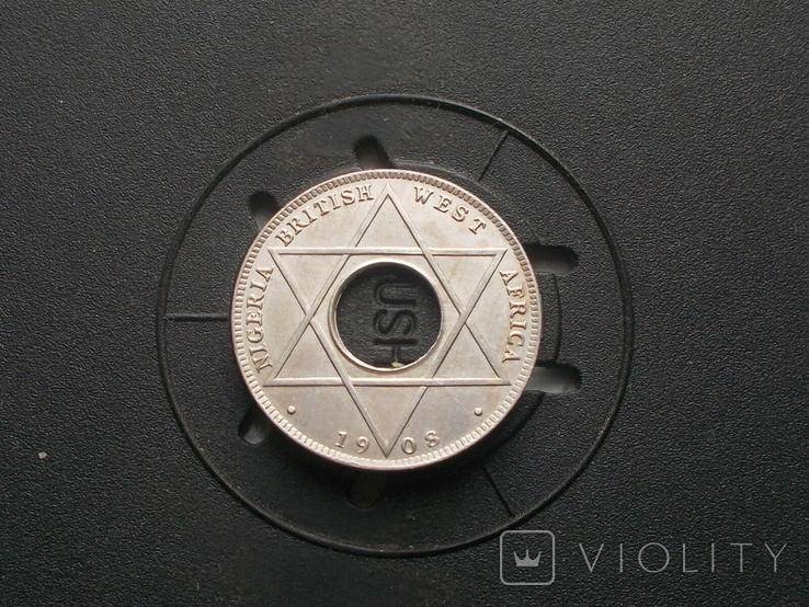 Британская ( Нигерия ) 1/10 пенни 1908 (№1), фото №2