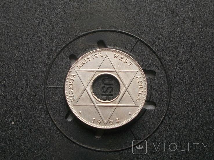 Британская ( Нигерия ) 1/10 пенни 1908 (№3), фото №2
