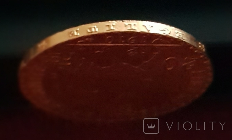Франция, 20 франков 1910г., золото 6,45 грамм, фото №7