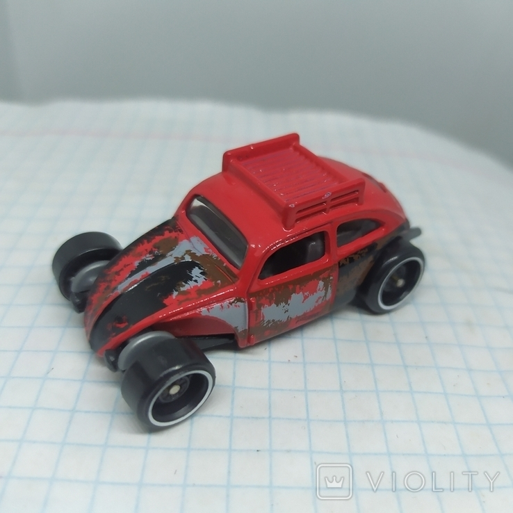 Машинка Volkswagen beetle. 2015 Mattel  (12.20), фото №4