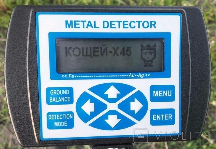 Металлоискатель Кощей X45 Carbon Pro с катушкой Mars Tiger, фото №2