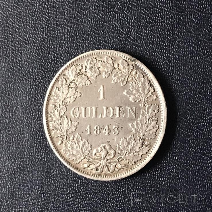 Гульден 1843 р. Вюртемберг, фото №5